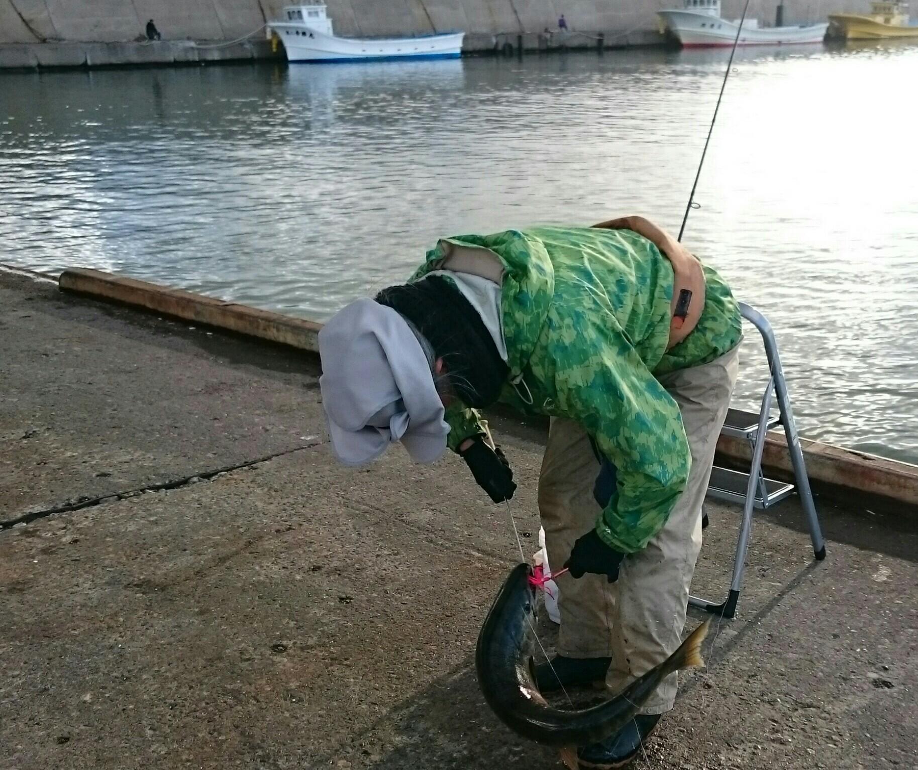 欠航の朝の常呂漁港