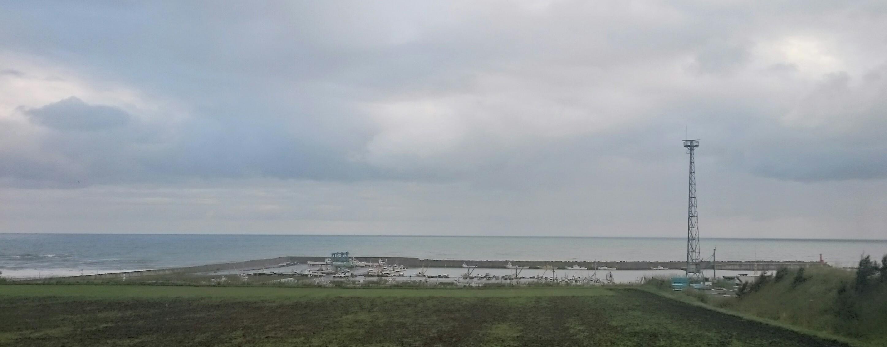 今朝の常呂漁港