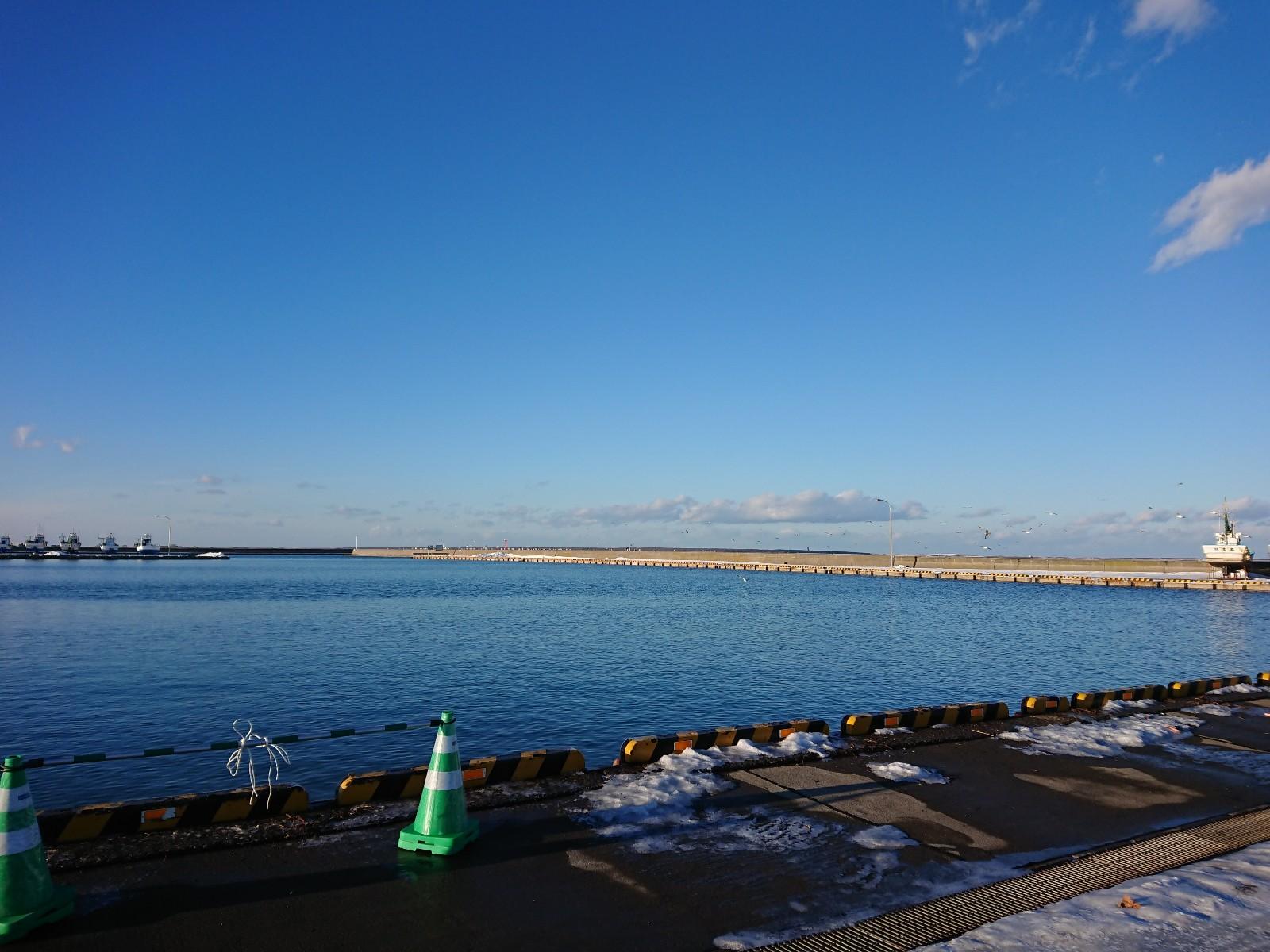 浜佐呂間漁港ですよ